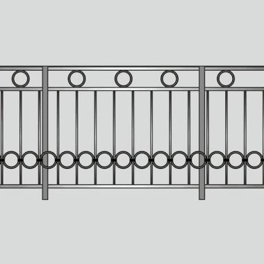 Кованое металлическое балконное ограждение 02