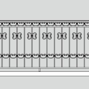 Кованое металлическое балконное ограждение 04
