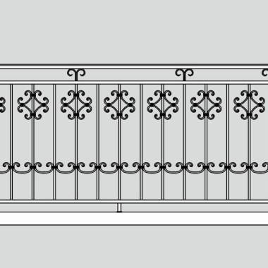 Кованое металлическое балконное ограждение 06