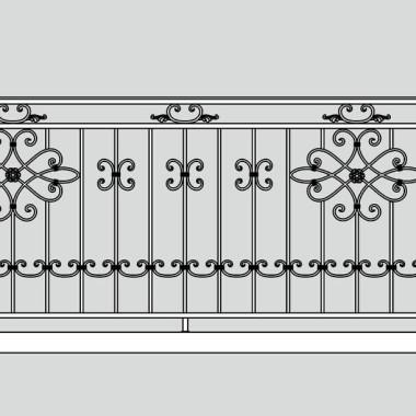 Кованое металлическое балконное ограждение 08
