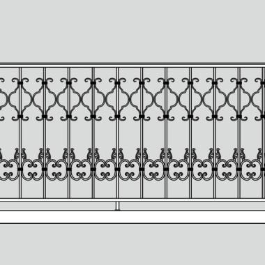 Кованое металлическое балконное ограждение 09