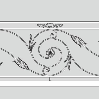 Кованое металлическое балконное ограждение 10
