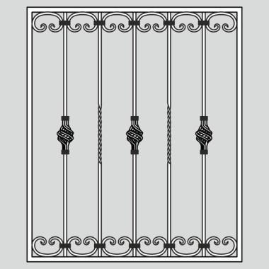 Кованая металлическая решетка 01