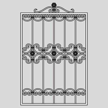 Кованая металлическая решетка 02