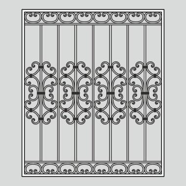 Кованая металлическая решетка 04