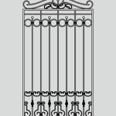 Кованая металлическая решетка 09
