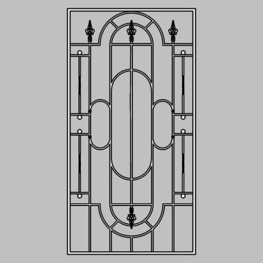 Кованая металлическая решетка 13