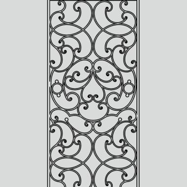 Кованая металлическая решетка 18