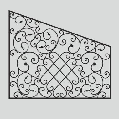 Кованая металлическая решетка 19