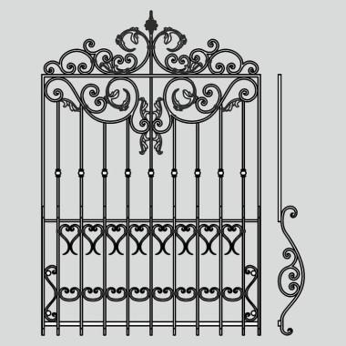 Кованая металлическая решетка 20