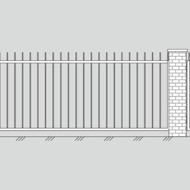 Кованые металлические ворота и калитка 01
