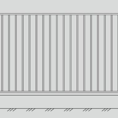 Кованый металлический забор 01