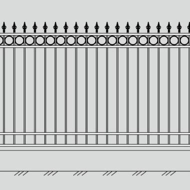 Кованый металлический забор 05