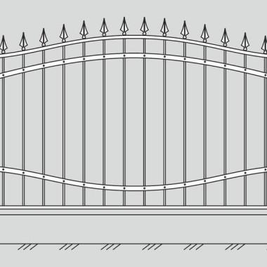 Кованый металлический забор 08