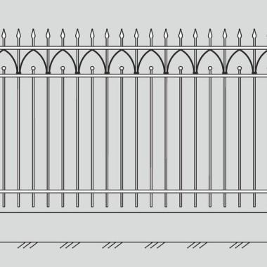 Кованый металлический забор 17