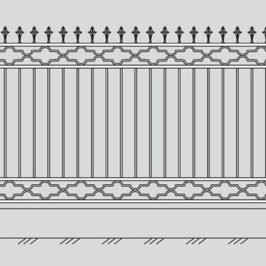 Кованый металлический забор 18