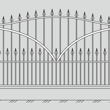 Кованый металлический забор 19