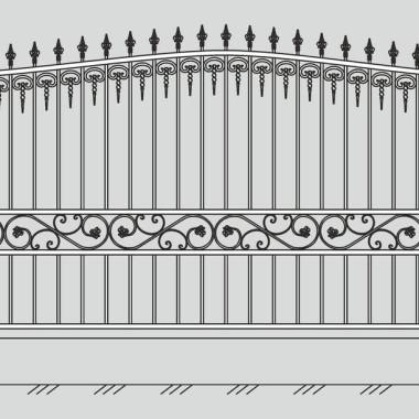Кованый металлический забор 20