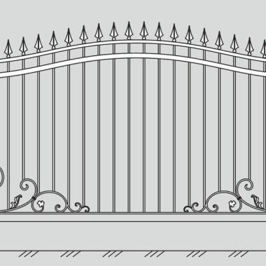 Кованый металлический забор 22