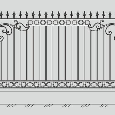 Кованый металлический забор 24