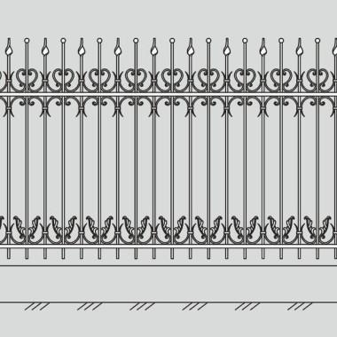 Кованый металлический забор 25