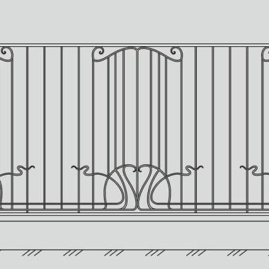 Кованый металлический забор 26