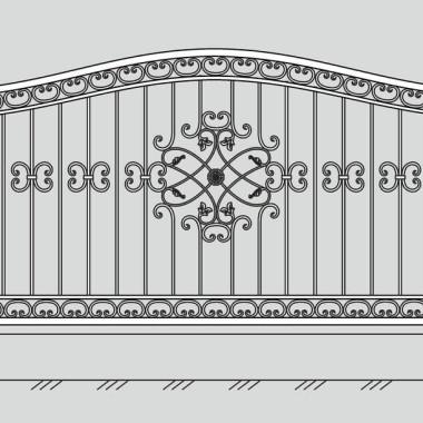 Кованый металлический забор 27