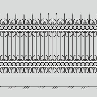 Кованый металлический забор 28