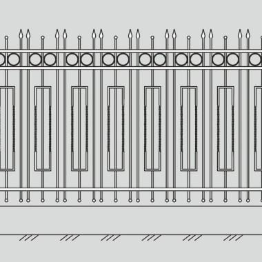 Кованый металлический забор 30