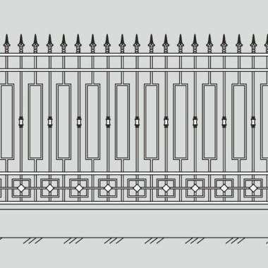 Кованый металлический забор 31